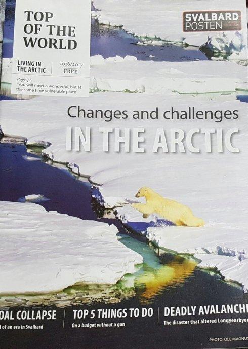 Am ajuns in Tromso si am cumparat o revista din Svalbard, e tot ce am reusit, deocamdata